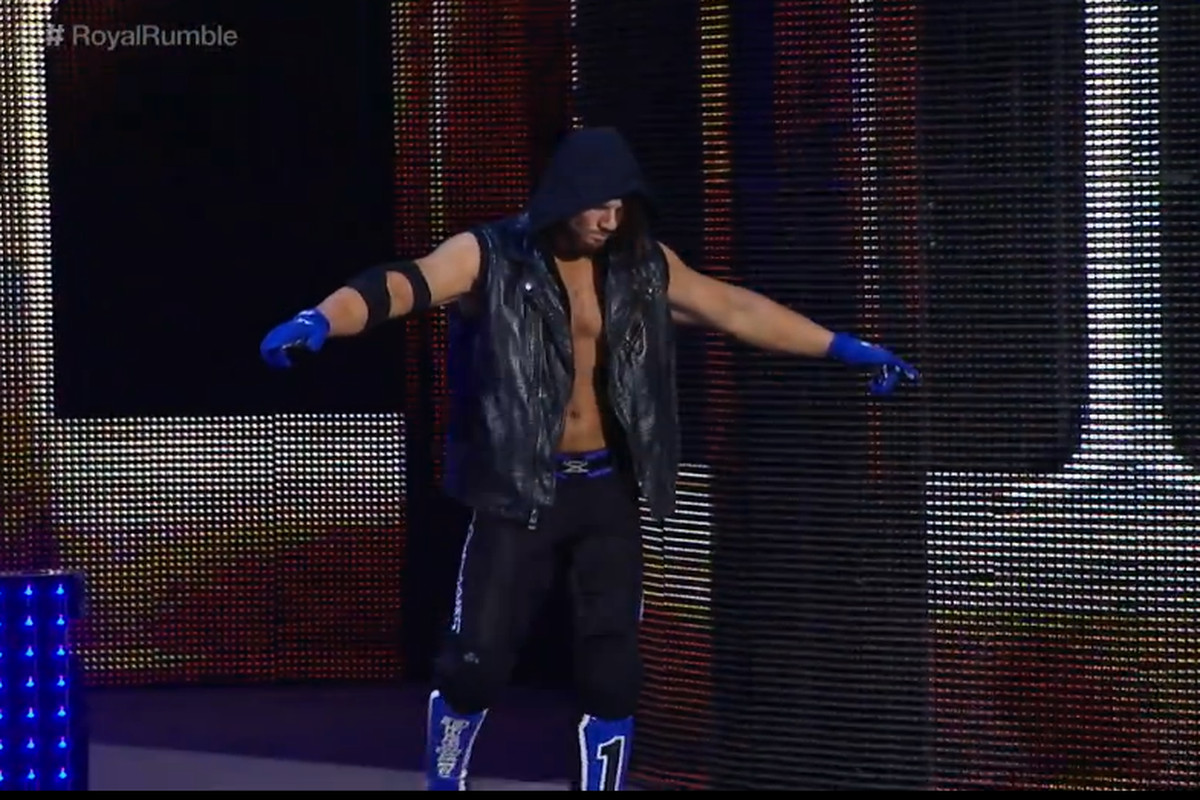 Image result for aj styles royal rumble 2016