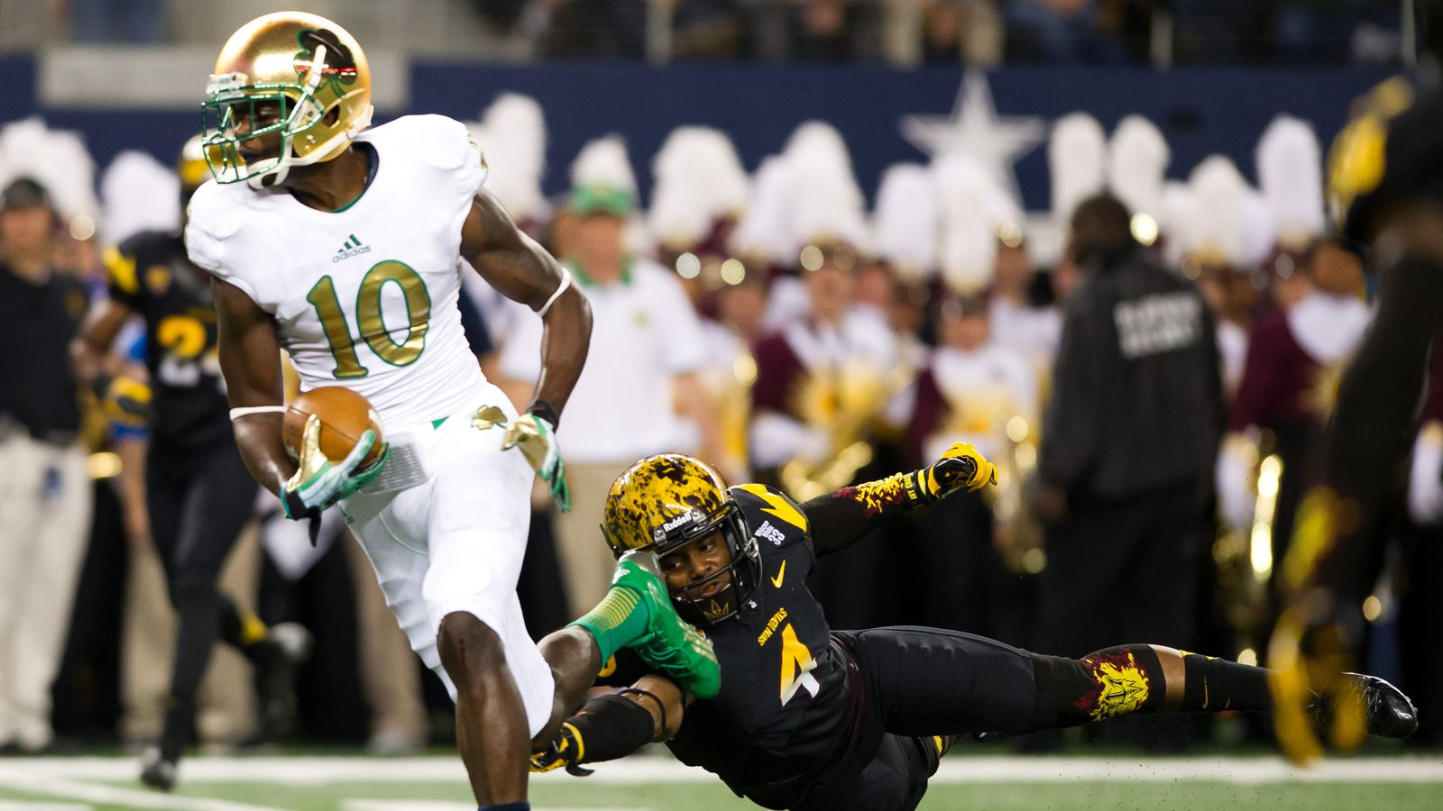 yahoo ncaa football odds what was the score of the notre dame football game