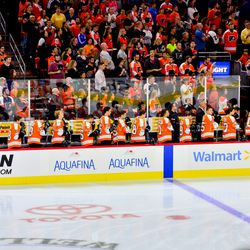 Our baby Flyers during the national anthem