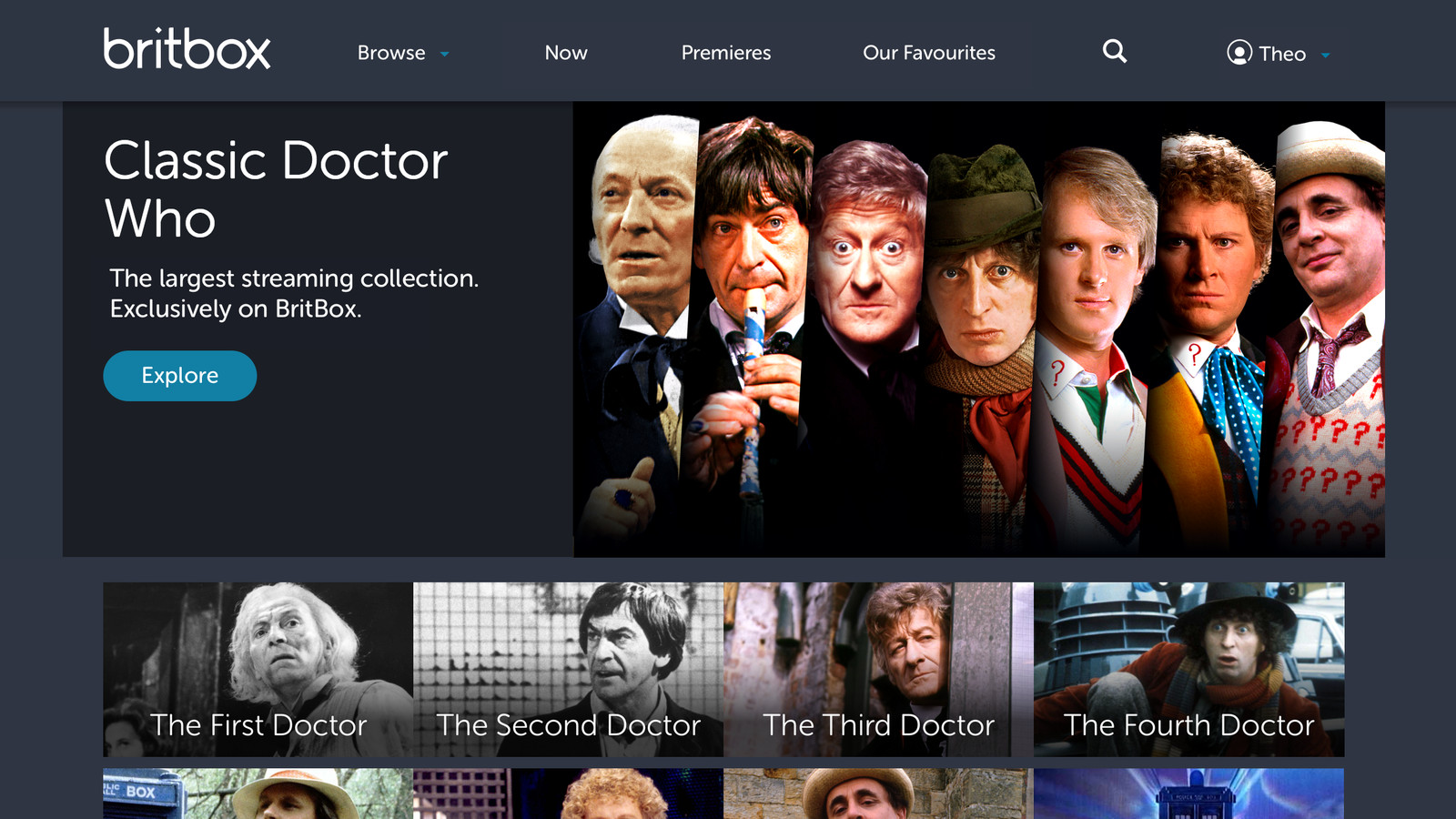 classic doctor who episodes are coming to britbox s