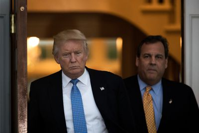 President Donald Trump and New Jersey Gov. Chris Christie.