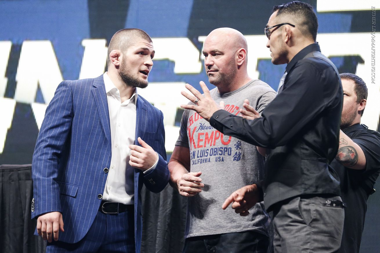 Fireworks erupt between Khabib Nurmagomedov, Tony Ferguson in heated UFC 209 conference call