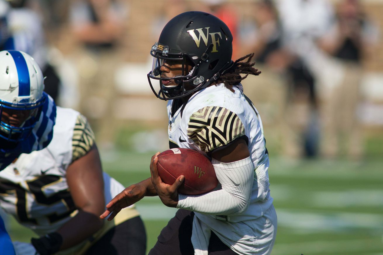 Injuries don't slow Wake Forest in 38-21 win over Delaware