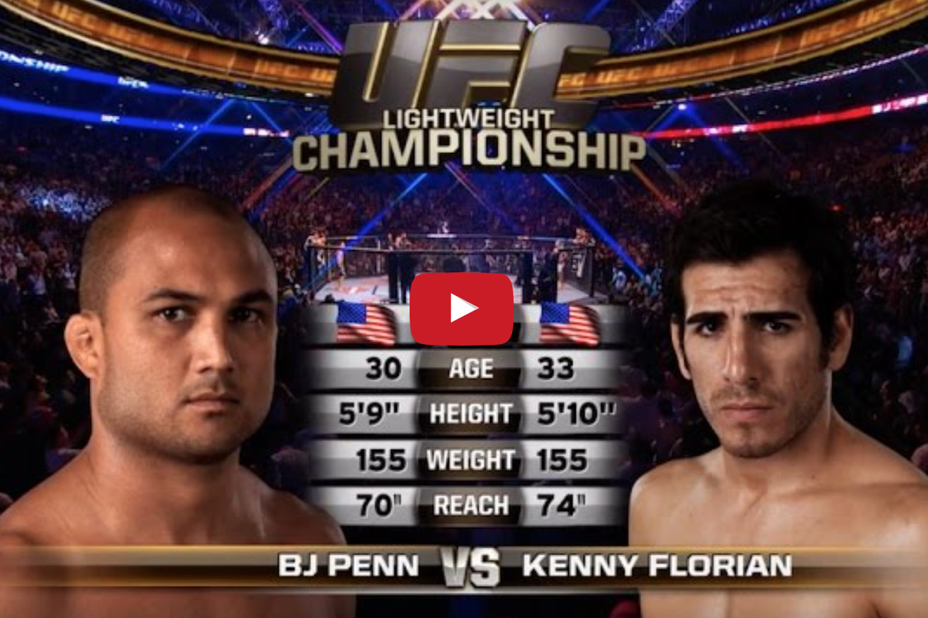 community news, Free fight! Watch BJ Penn batter, submit Kenny Florian at UFC 101 (Video)