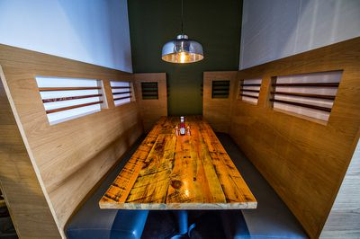 A semi-private booth off the main dining room.