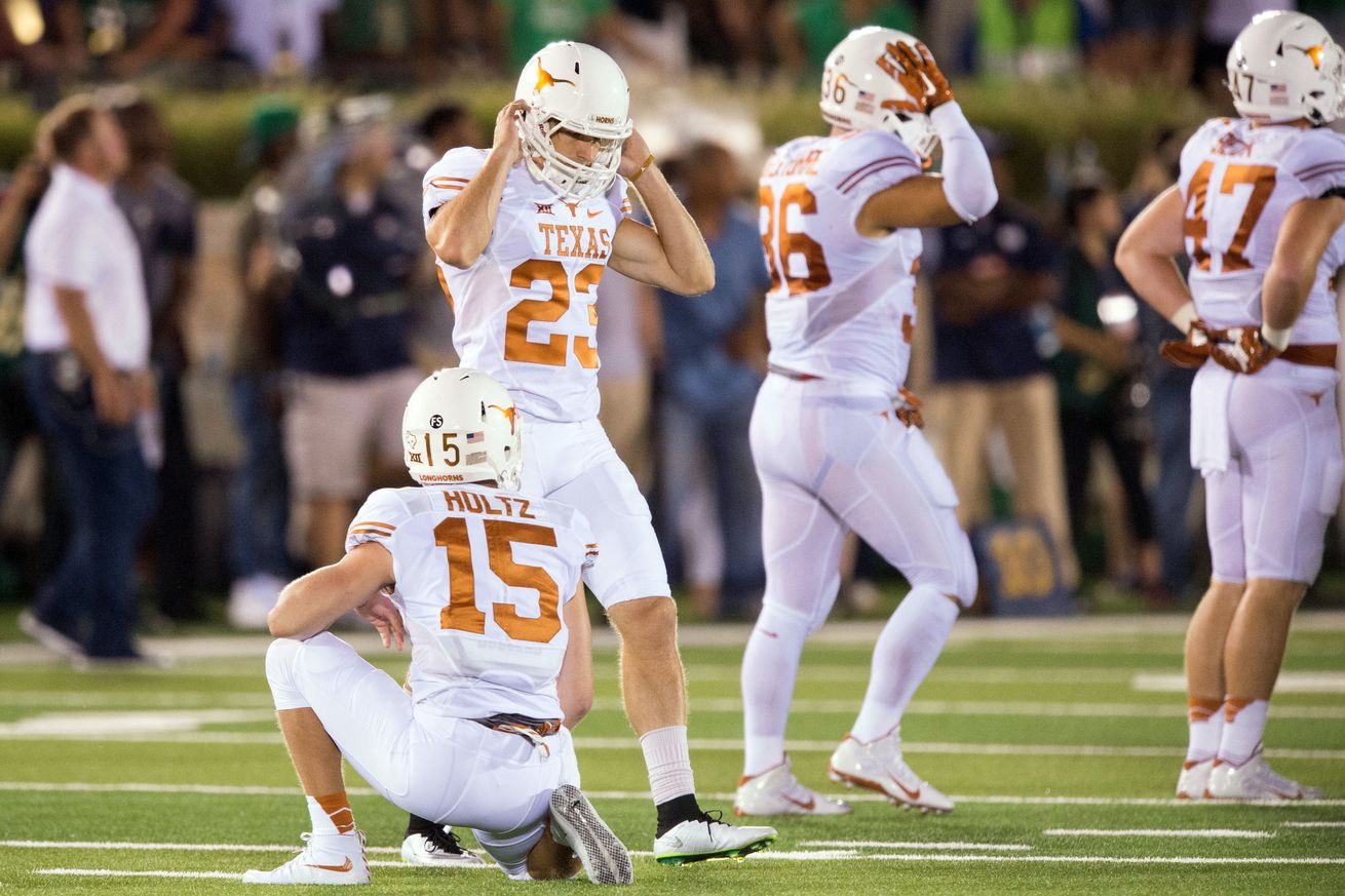 Nike authentic jerseys - Texas opens up kicking competition after more Nick Rose misses ...