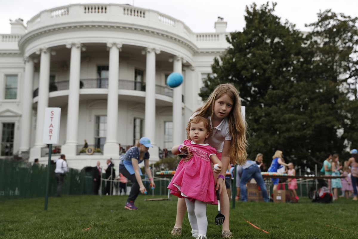 The Trumps host their first White House Easter Egg Roll