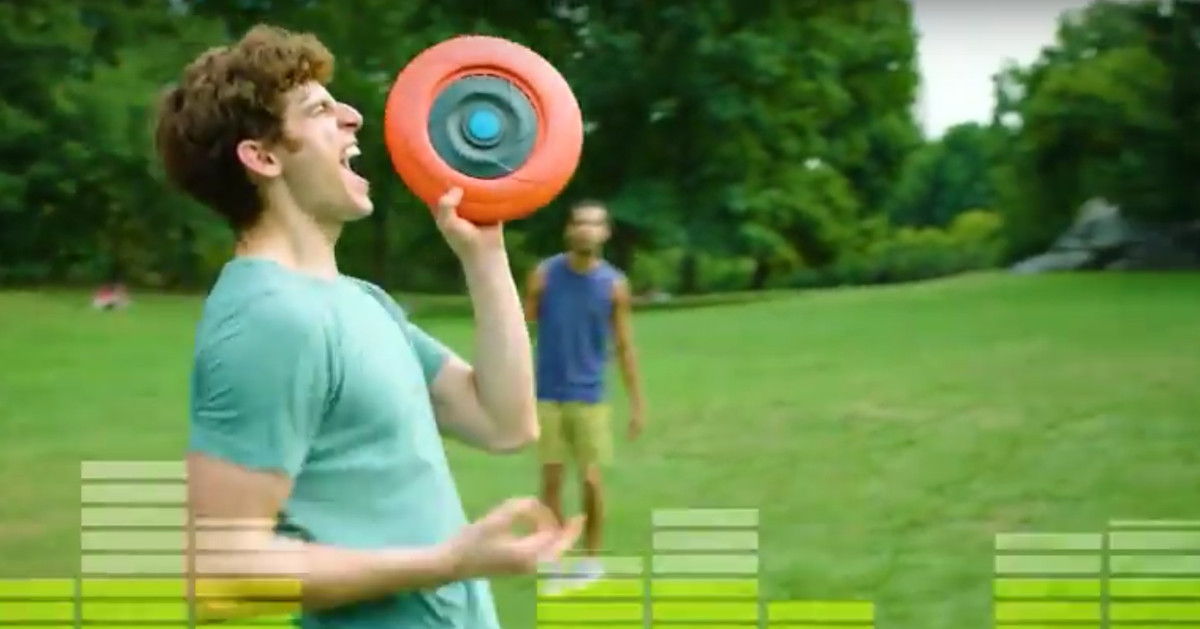This Could Be You Enjoying a Flying Bluetooth Speaker Disc