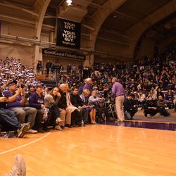 Alumni, fans and donors look on emotionally as many thought this day might not ever come.