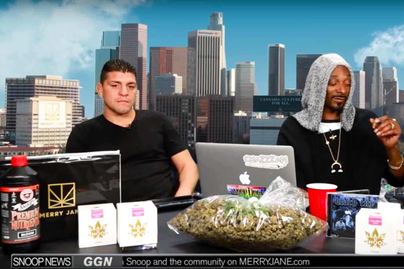 Nick Diaz talks about smoking weed with Kimbo Slice on Snoop Dogg's show