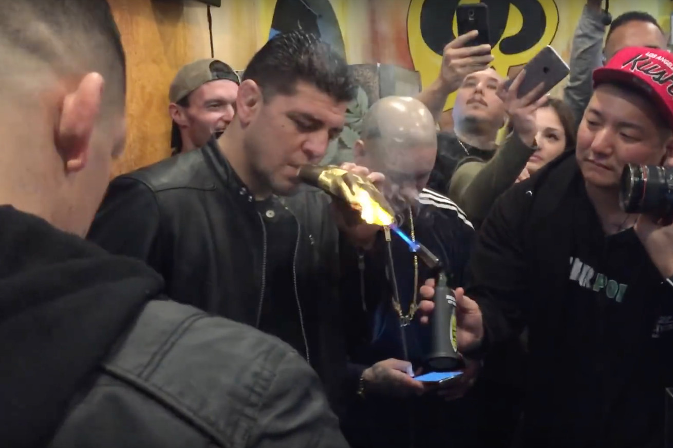 community news, The Weekly Grind: Nick and Nate Diaz smoke a $2000 blunt, Sage Northcutt smashes a pineapple, more