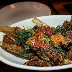 Crispy lamb ribs at Mida, a new addition to the Heatmap this month.