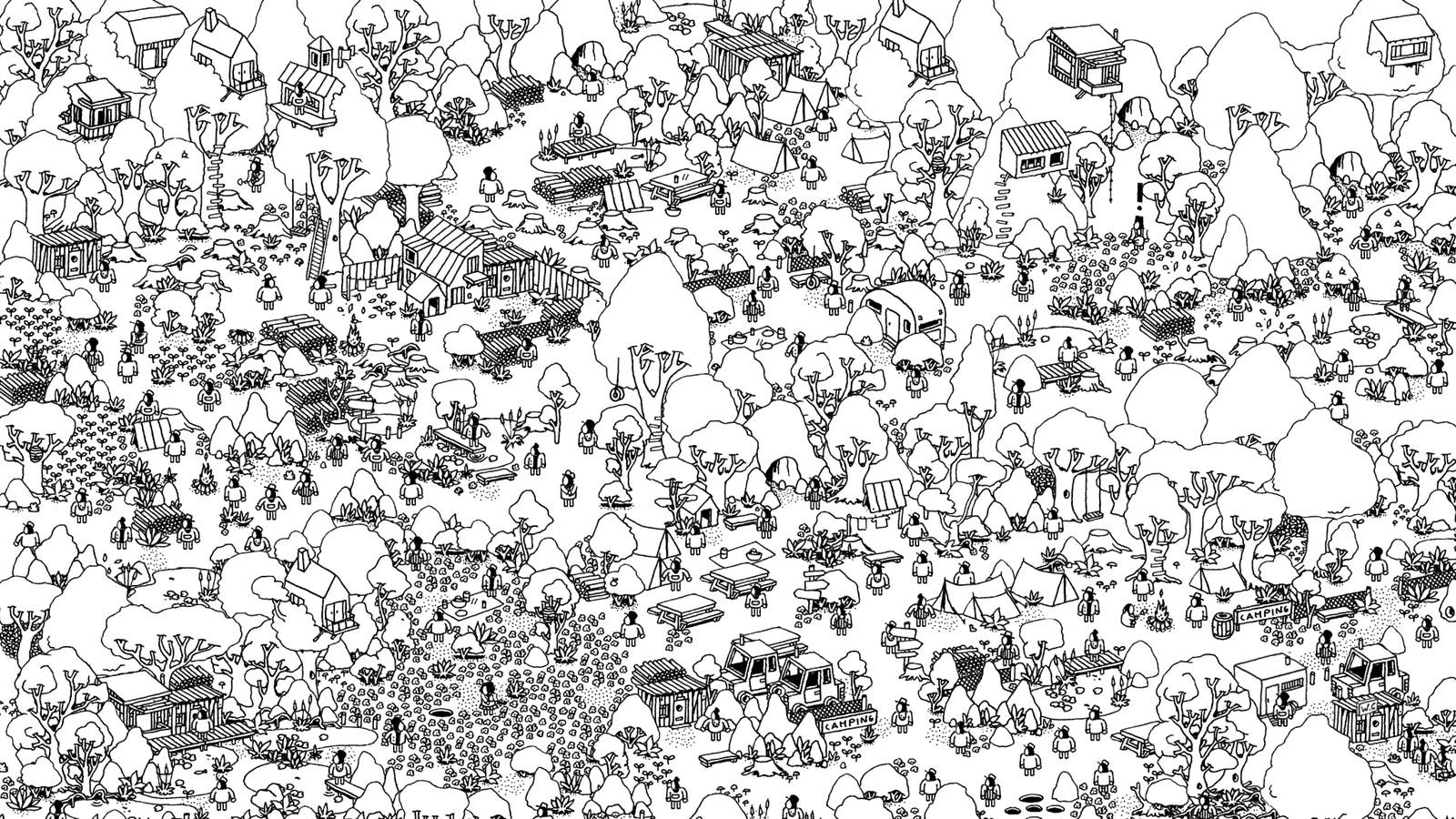 Kleurplaat Voor Volwassenen Dieren Panda Hidden Folks Is The Where S Waldo Game You Didn T Know