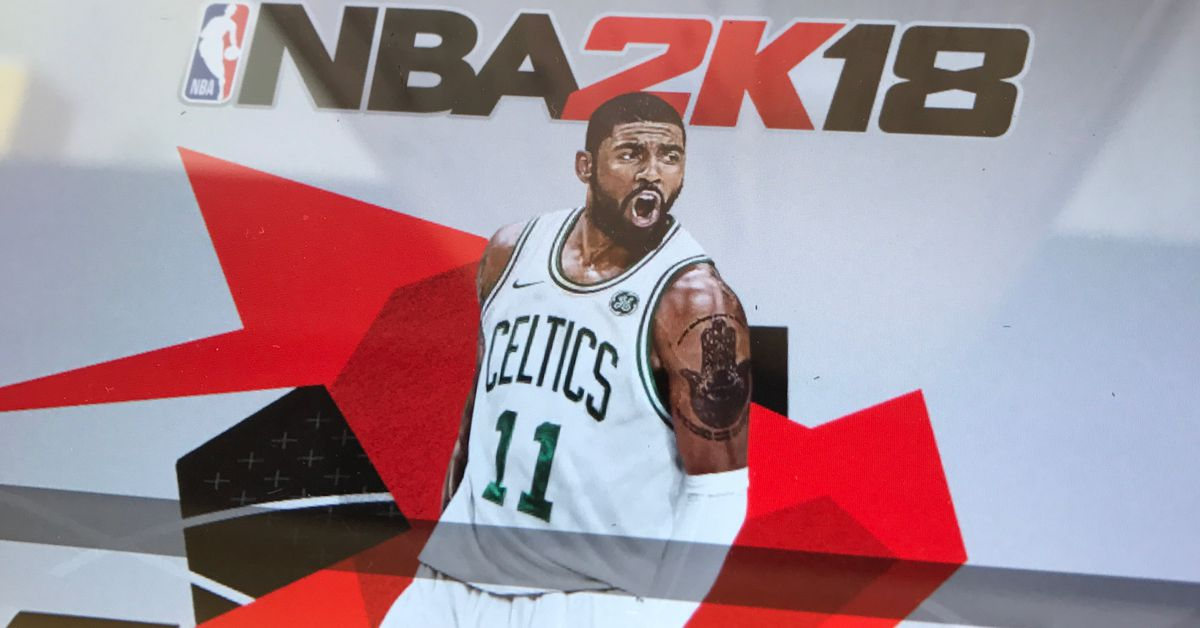 nba 2k18 fixes its cover to feature kyrie irving in a celtics jersey