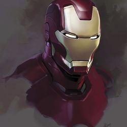 RYAN MEINERDING Head nos.1–4 / Concept art for Iron Man 3 2013<br> © 2017 MARVEL<br><br><br><br>