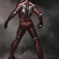 RYAN MEINERDING Suitcase suit back view no.2 / Concept art for Iron Man 2 2010<br> © 2017 MARVEL<br><br><br><br>