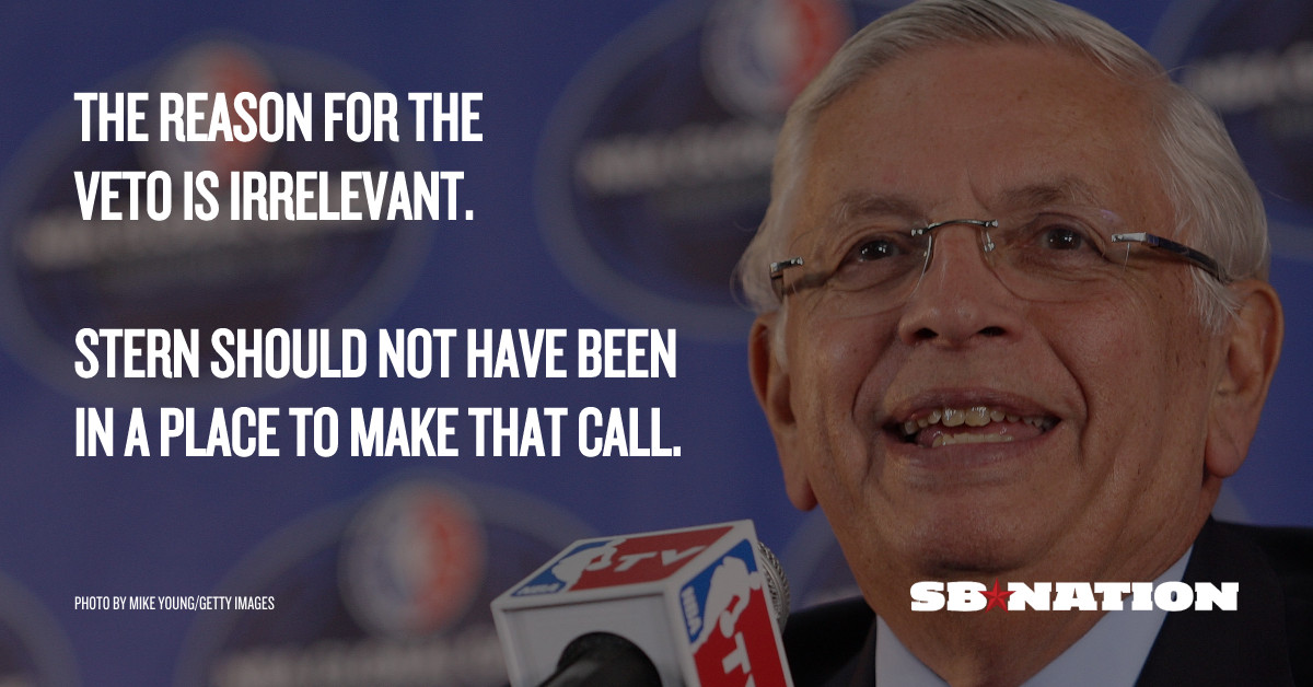 c1a7015fc5c The Chris Paul trade veto was one of David Stern's biggest mistakes -  SBNation.com
