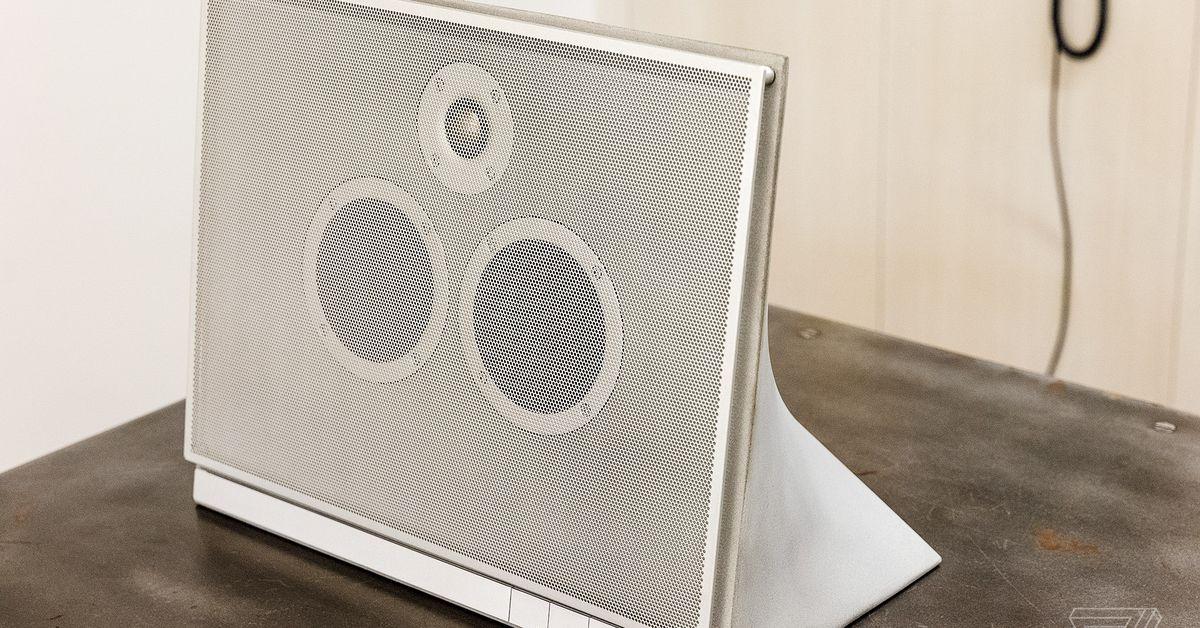 photo image Master & Dynamic's concrete speaker is part art piece, part room shaker