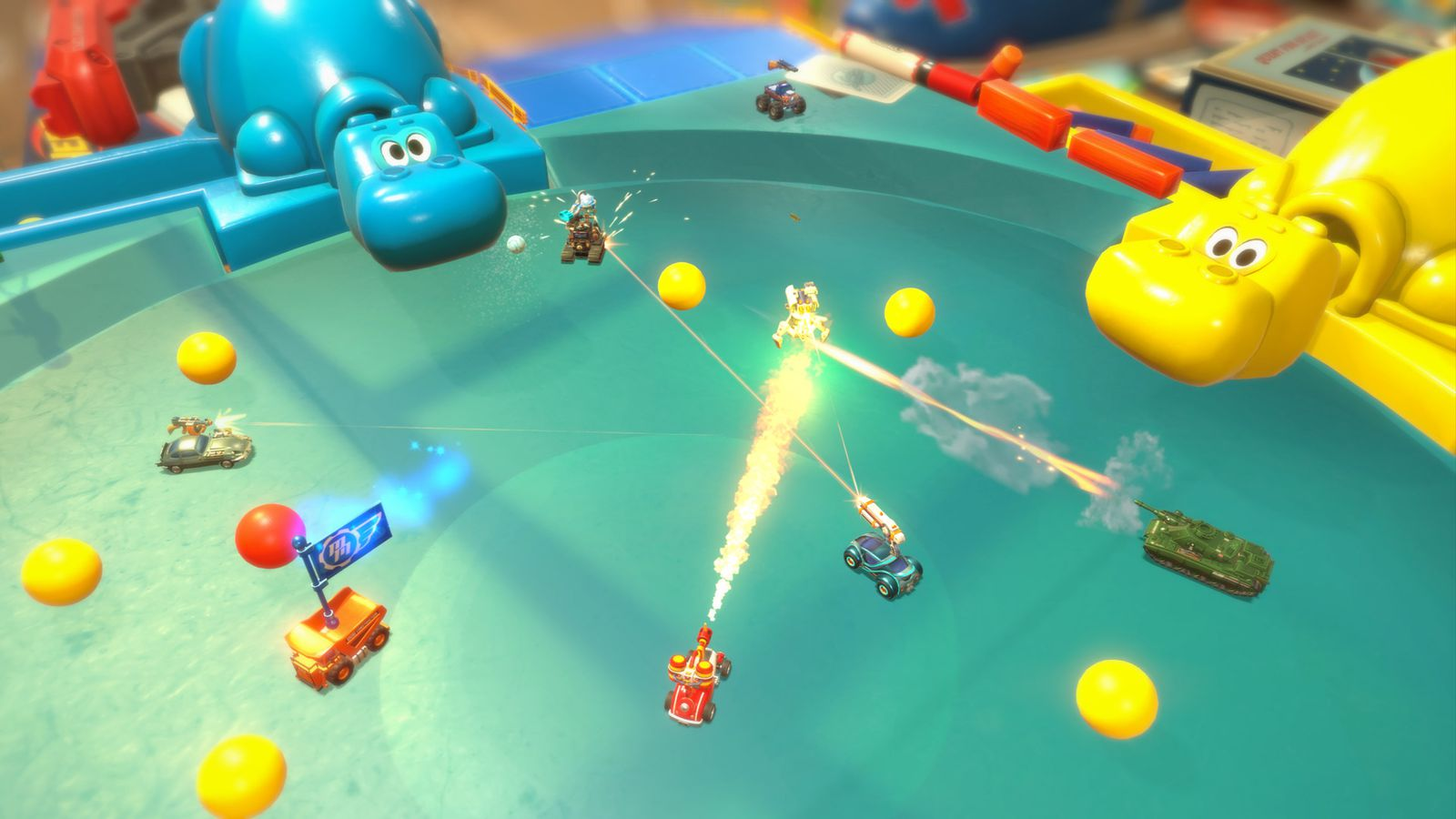 New Micro Machines game brings vehicular deathmatch to Hungry Hungry Hippos