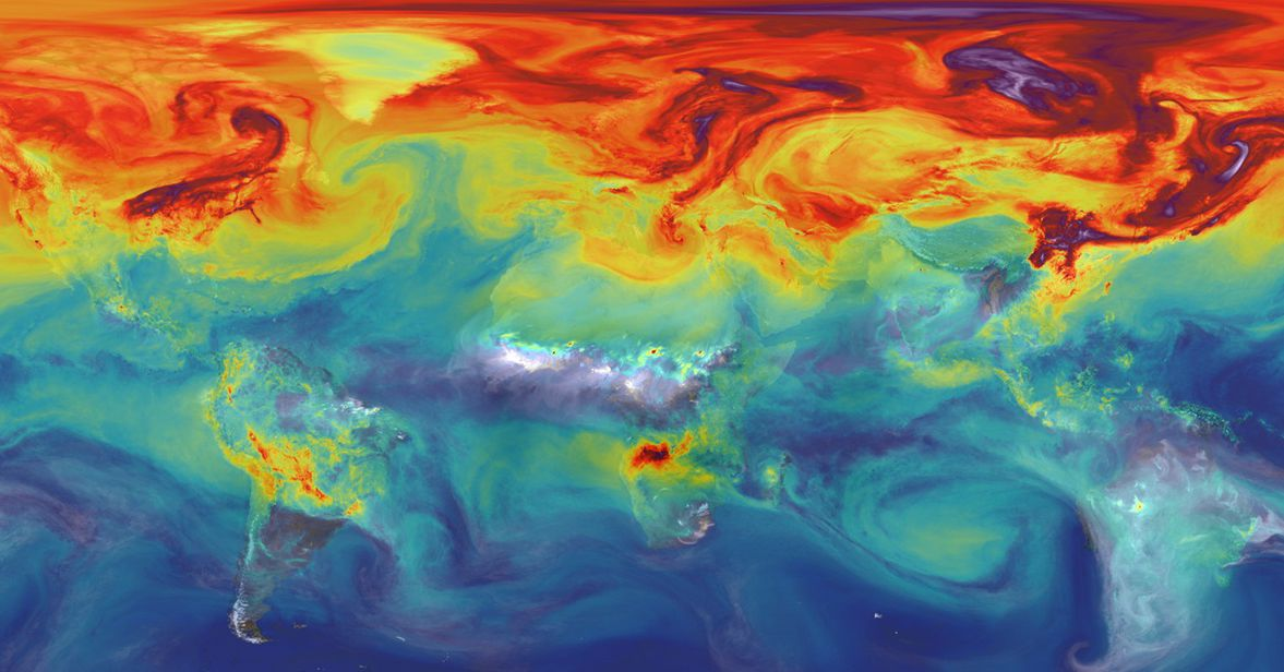 photo image A NASA satellite that monitors CO2 is revealing the inner workings of our planet