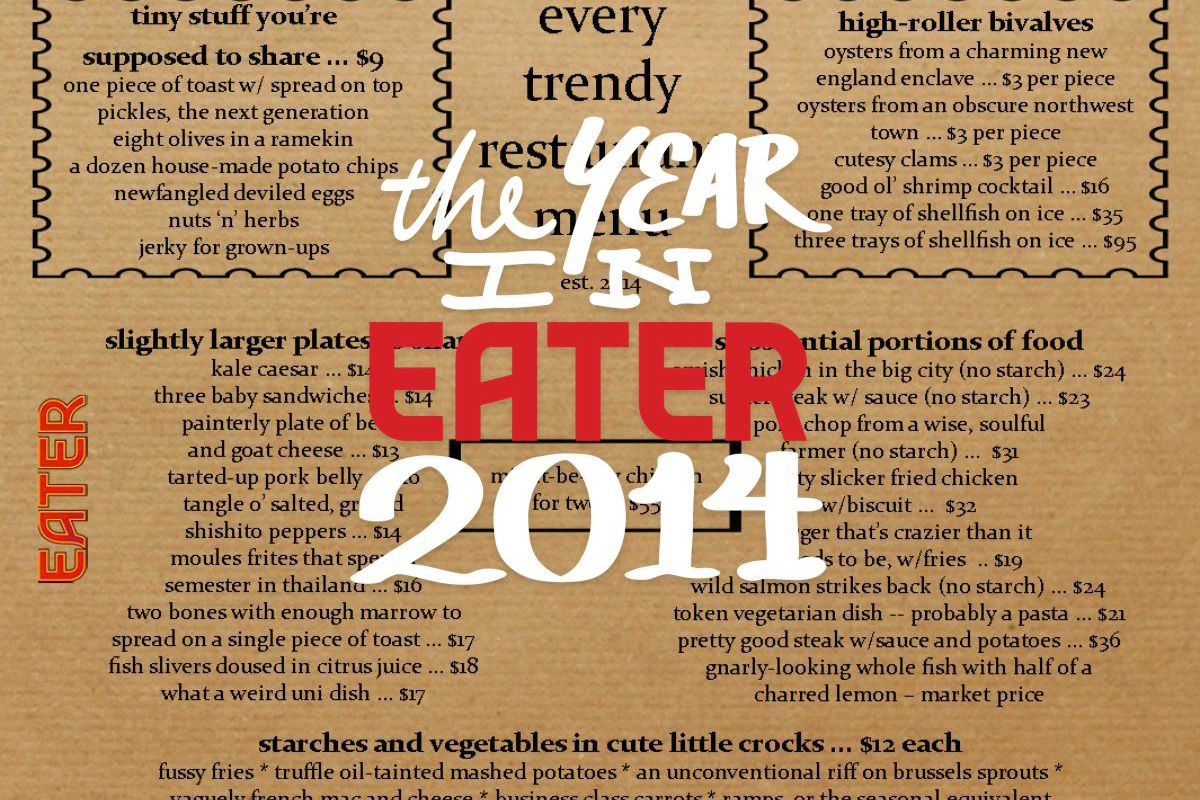 friends of eater on their biggest restaurant grievances of  as is the tradition at eater our closeout of the year is a survey of friends industry types and bloggers this year we asked the group eight questions