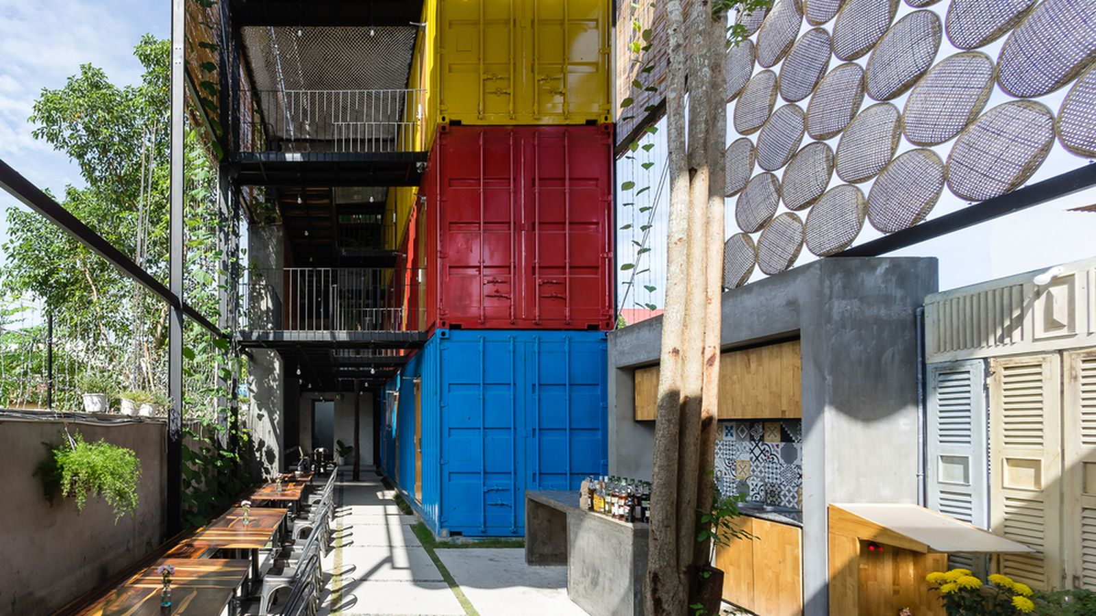 Clever shipping container hostel opens in vietnam curbed - Shipping container homes chicago ...