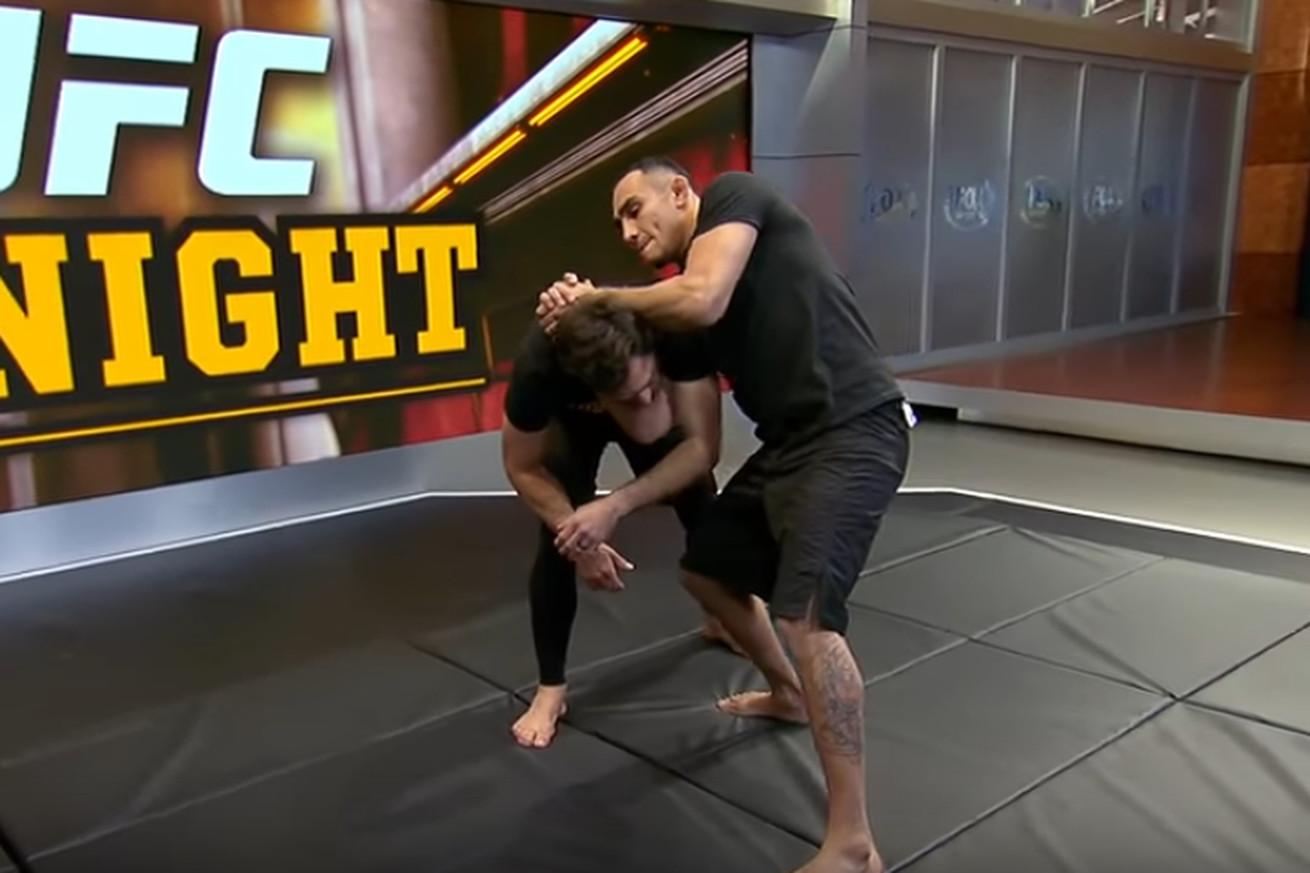 Video: Tony Ferguson demonstrates his D'Arce choke technique on Kenny Florian