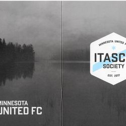 The front and back of the stunning Itasca Society booklet.