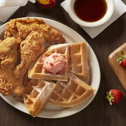 Chicken and waffles at Metro Diner
