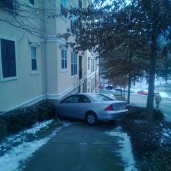 But that didn't stop this motorist from plowing into a Buckhead apartment building.