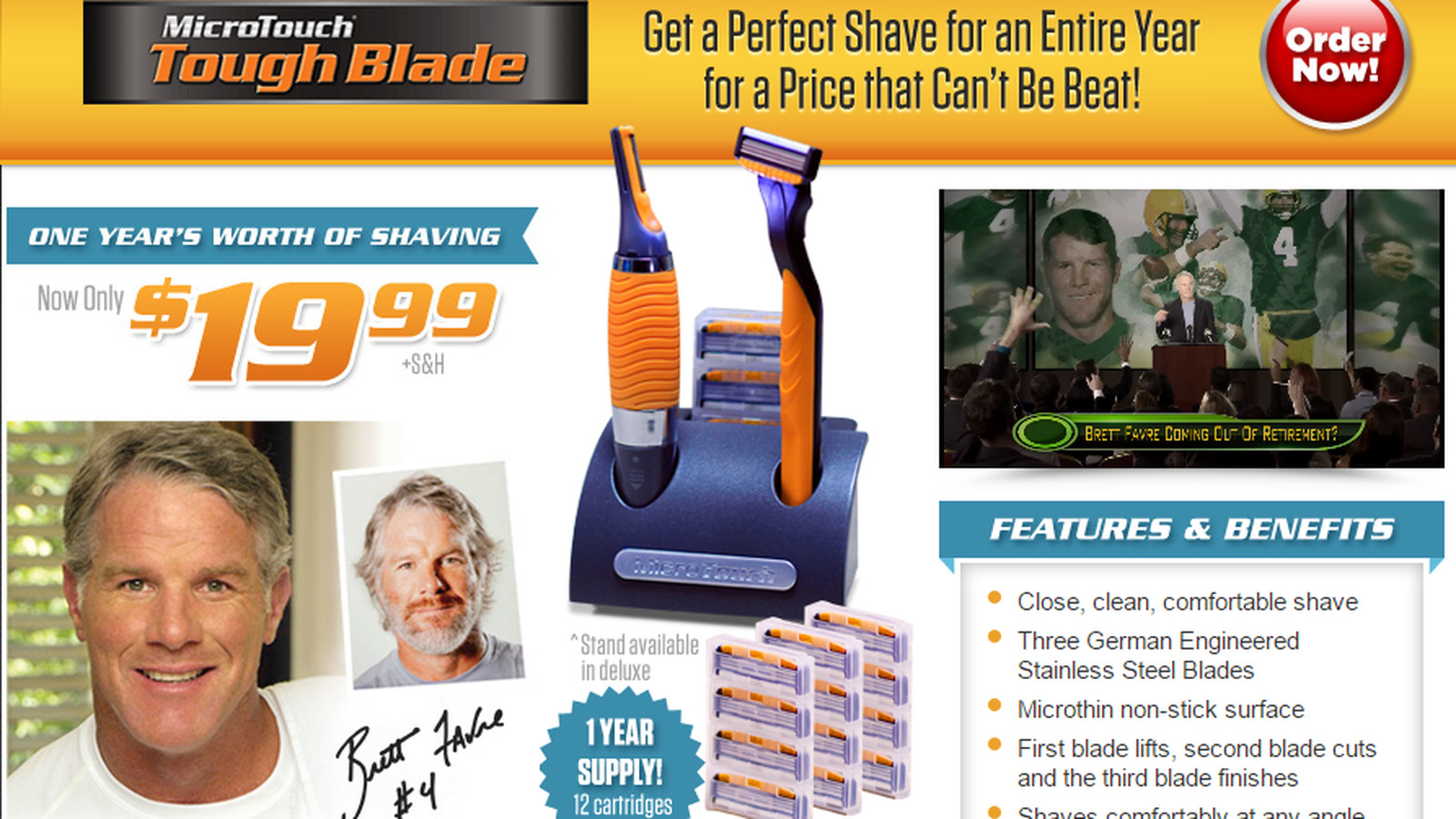 Brett Favre Would Like To Sell You A Horrible Razor With