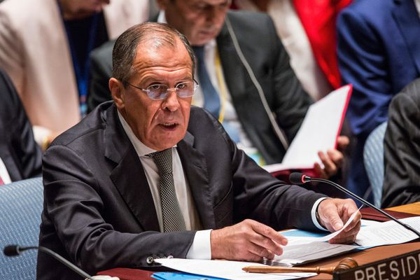 Sergey Lavrov, Foreign Minister of Russia, at the UN Security Council on Wednesday