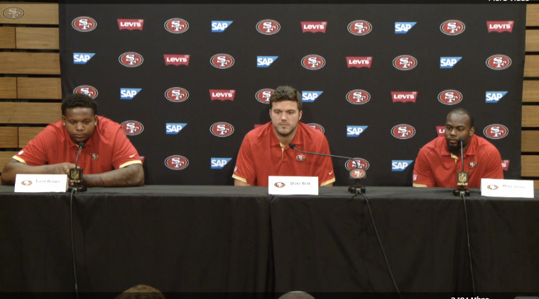 nfl GAME San Francisco 49ers Blake Bell Jerseys