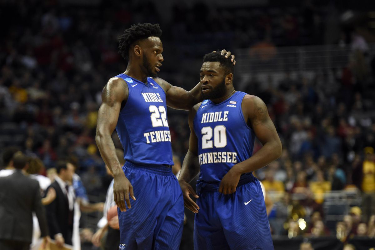South region No. 12 seed Middle Tennessee will battle No. 4 seed Butler on Saturday in Milwaukee.        Benny Sieu-USA TODAY Sports