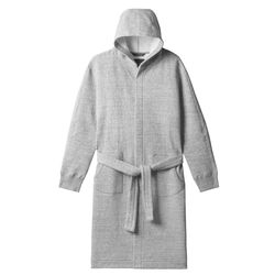 """Give the gift of ultimate comfort: Wings + Horns <a href=""""https://shop.wingsandhorns.com/collections/accessories/products/cabin-fleece-robe-heather-grey"""">Cabin Fleece Robe</a> ($170)"""