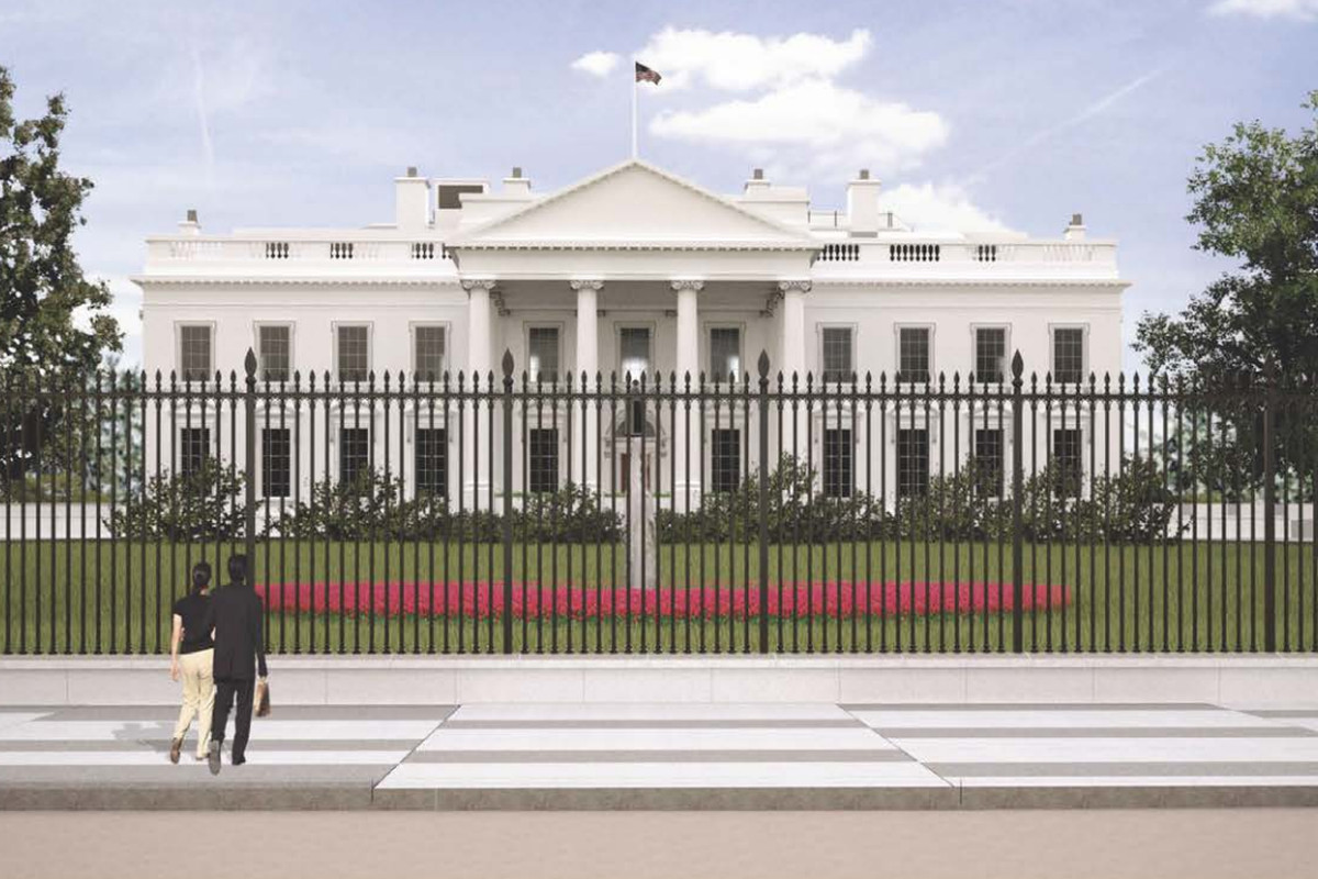 White house fence final design approved curbed dc for House look from outside