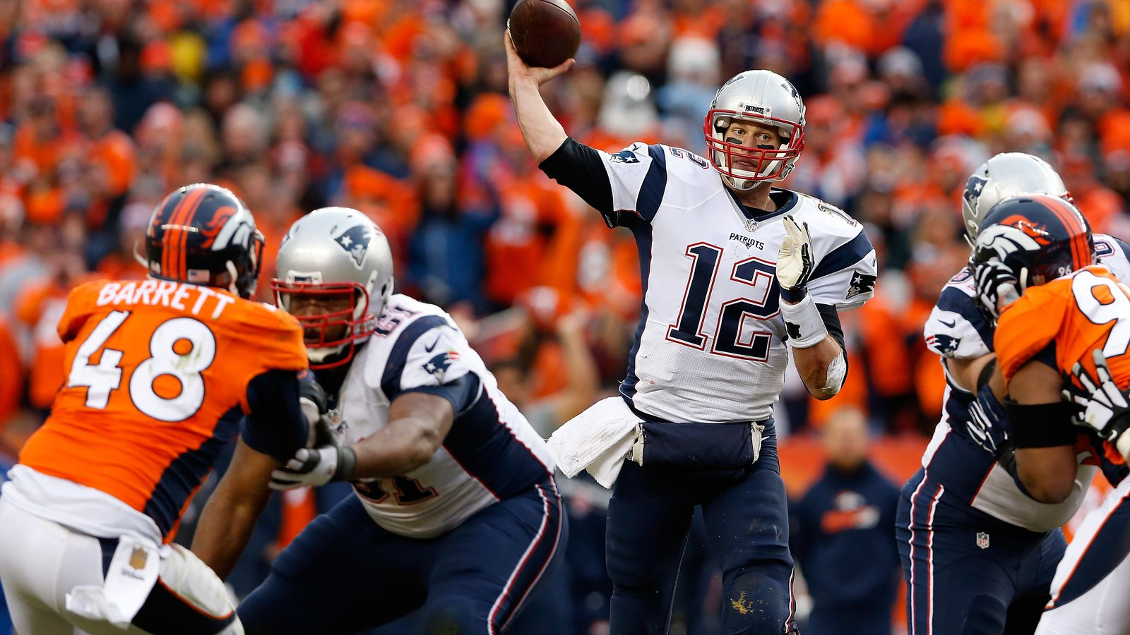 online odds patriots and broncos game score