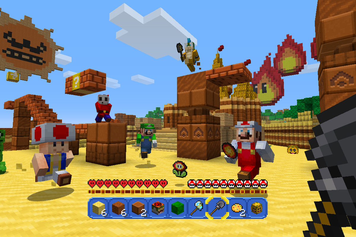 Nintendos New Minecraft Mash up Is A Love Letter To Super Mario The Verge