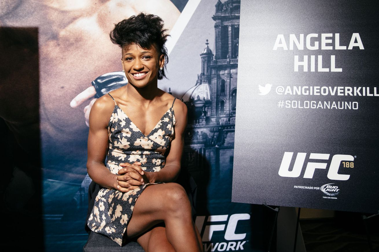 Angela Hill: UFC strawweight class has separate division for fighters 'there to look cute'