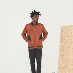 """Bee <a href=""""https://tictail.com/s/beeclo/waxed-workwear-jacket"""">Waxed Workwear Jacket</a>, $375"""