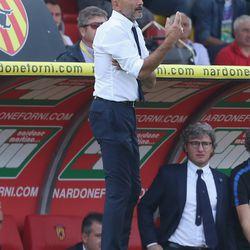 Head coach of Inter Luciano Spalletti during the Serie A match between Benevento Calcio and FC Internazionale at Stadio Ciro Vigorito on October 1, 2017 in Benevento, Italy.