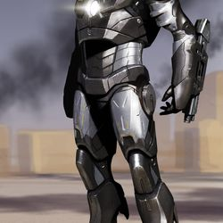 PHIL SAUNDERS Iron Man Mark III no.2 / Concept art for Iron Man 2008<br> © 2017 MARVEL<br><br><br><br>