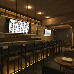A rendering of the bar at the Jinya coming to Logan Circle.