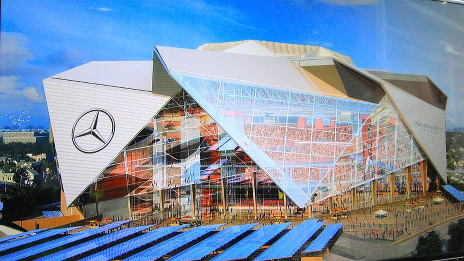 Atlanta falcons mercedes benz stadium will be chock full for Who owns mercedes benz stadium