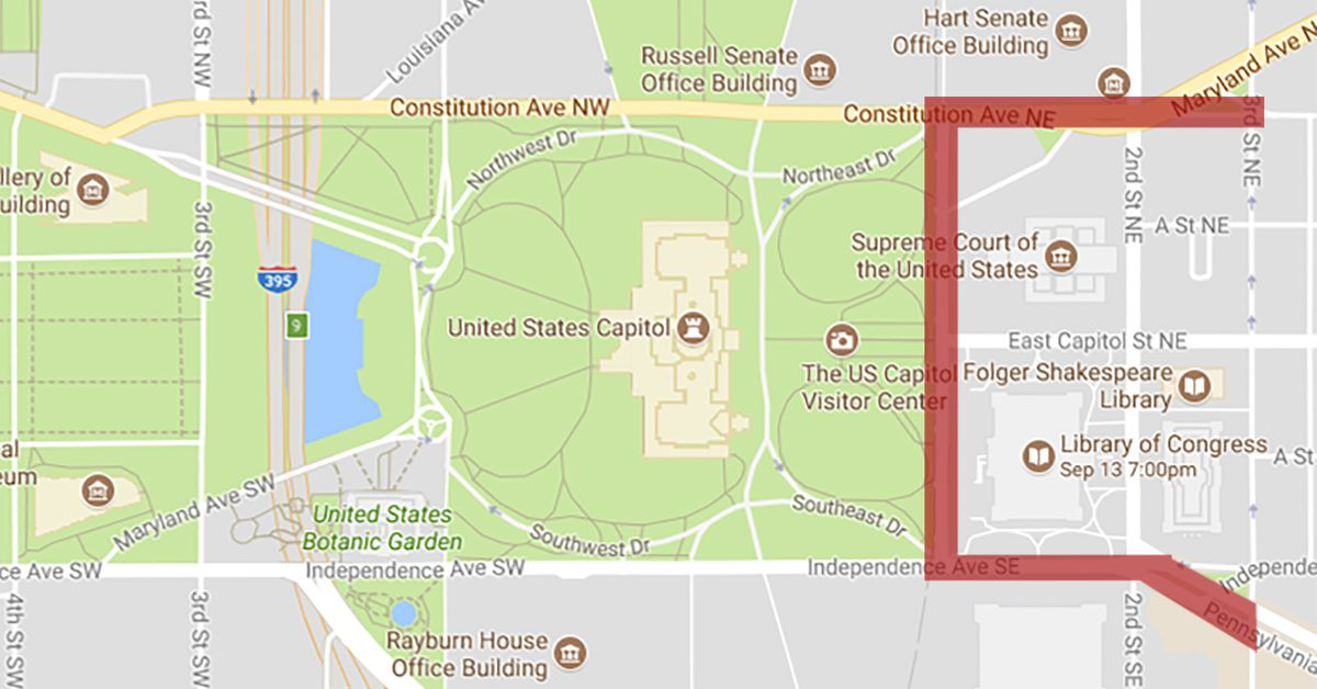 Labor Day Concert Road Closure Map Revealed Curbed DC - Map of us capitol
