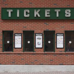 No line at the open ticket windows, next to the bleacher gate, on Waveland Avenue