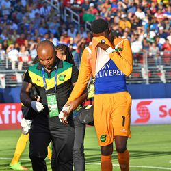 Unfortunately, Jamaican and Philadelphia Union goalkeeper Andre Blake hurt his hand and had to go out of the game in the first half.
