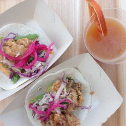 Johnny Sanchez's fried oyster taco won first place in the People's Choice Top Creative Taco category.