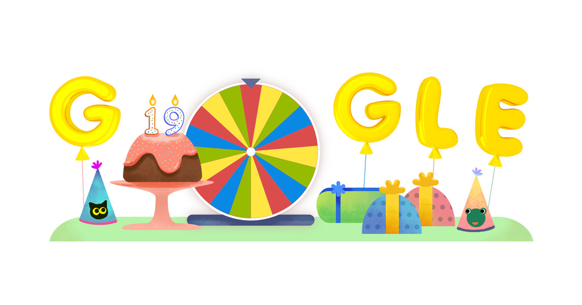 Google Birthday Surprise Spinner Cat Game