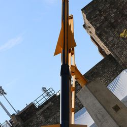 There's something to like about a campus where they have a rocket aimed at their enemies.<br>